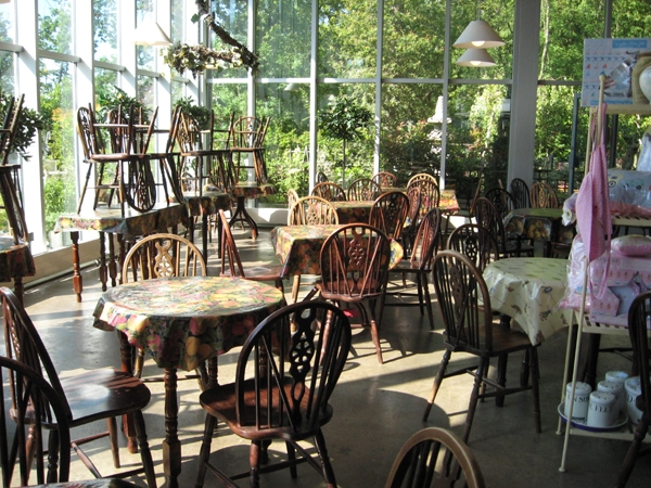 Tea room of the Hopetoun Garden Centre at closing time.