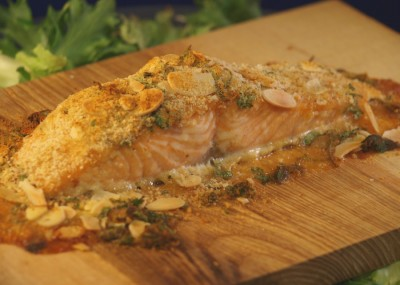 Salmon on an Ash Plank